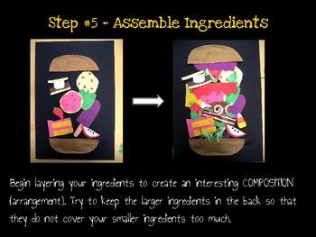 Art Lesson for Kids: Pop Art Sandwiches