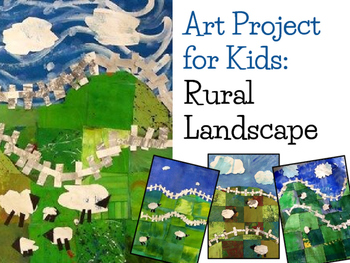 Art Lesson for Kids: Rural Landscape Collage