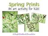 Art Lesson for Kids: Spring Blossom Prints