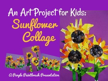 Art Lesson for Kids: Sunflower Collage
