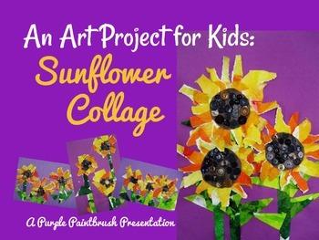 Art Lesson for Kids: Sunflower Collage
