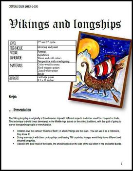 Vikings and Longships : Art Lesson for Kids