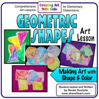 art lesson for kindergarten geometric shapes design tpt