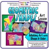 Art Lesson for Kindergarten Geometric Shapes Design