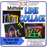 Art Lesson for Kindergarten Multicolor Line Collage