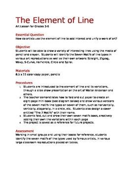 Art Lesson on Line- 3rd-6th grades