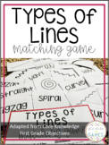 Types of Line Matching Game (Core Knowledge First Grade)