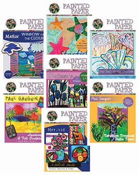 Art Lessons: Painted Paper Bundled Lessons Pack #2
