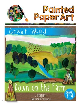 Art History Lessons: Grant Wood Down on the Farm and Fall Corn Shocks