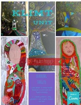 Art Lessons: Gustav Klimt Unit