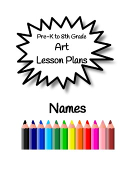 Art Lessons-Names