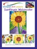 Art Lessons: Sunflower Watercolor Step by step drawing and Painting Lesson