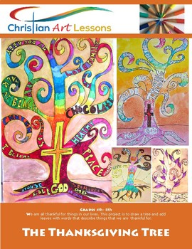 Art Lessons: The Thanksgiving Tree 3rd- 8th Grades
