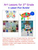 Art Lessons for 2nd Grade - Four Lesson Plan Bundle!