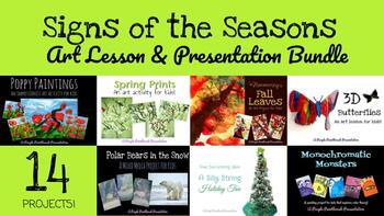 Art Lessons for Kids: Signs of the Seasons Project Bundle