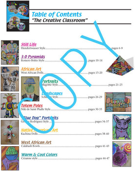 "Art Lessons - ""the creative classroom"" Book - common core content"