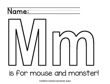 Art Letters M and W