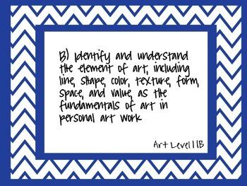 Art Level 1 High School TEKS Cards