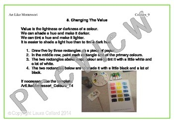 Art Like Montessori 4: Colours