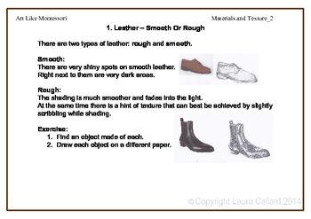 Art Like Montessori 6: Material and Texture