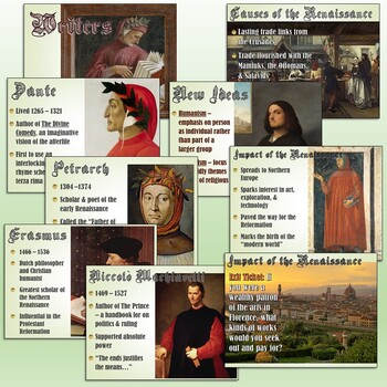 The Renaissance Introduction PowerPoint and Flipped Classroom Lesson