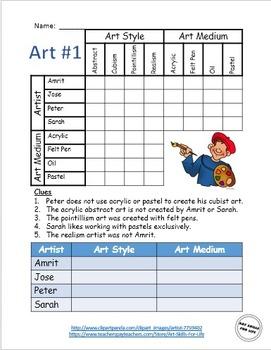 Logic Puzzles - Ten Art Themes