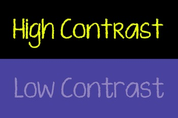 Art Low Contrast & High Contrast Poster