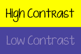 Art - Low Contrast & High Contrast Poster