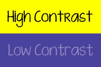 Art - Low Contrast & High Contrast Poster