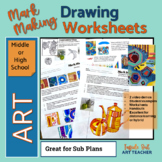 MARK MAKING DRAWING WORKSHEETS Middle or High School Art D