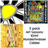 Art Masterpiece 3 Bundle Art Lessons Klimt Calder and Hundertwasser History