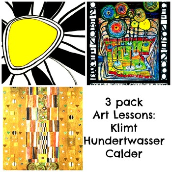 Art Masterpiece 3 Bundle Art Lessons Klimt Calder and Hundertwasser History
