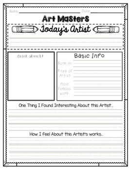 Art Masters Fact Sheet