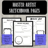 Art Masters Sketchbook activity pages