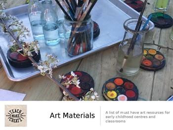 Art Materials to Create Your Own Art Studio