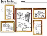 Counting Worksheets, Cactus,  1-20 4 Pages- PreK, K, 1, EL