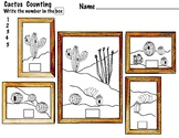 I Can Count, Cactus,  1-20 4 Pages- PreK, K, 1, ELL Art & Math,