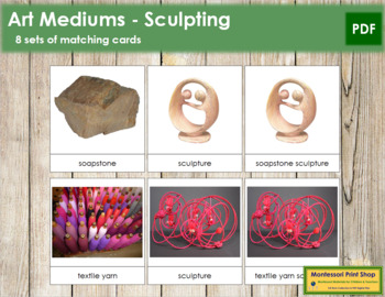 Art Medium Cards - Sculpting