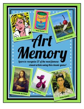 Art & Artist Memory Game