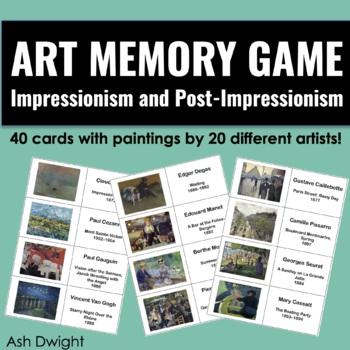 Art Memory Game: Impressionism and Post-Impressionism