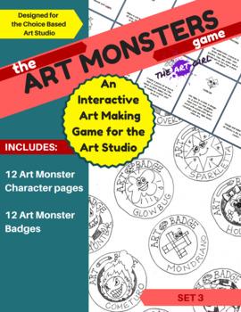 Art Monsters Game - Set 3