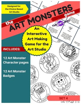 Art Monsters Game - Set 4