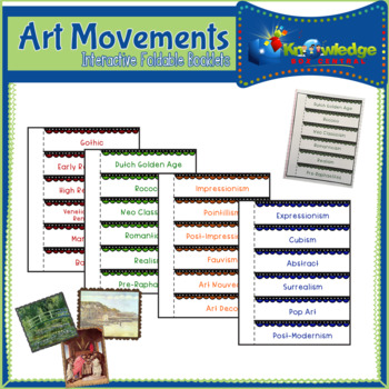 Art Movements Interactive Foldable Booklets