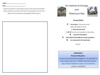 Art Museum Activity: Art Institute of Chicago