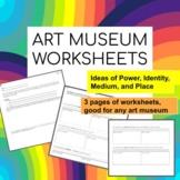 Art Museum Field Trip Worksheets