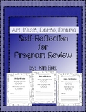 Art, Music, Dance, Drama Self-Reflection for Program Review