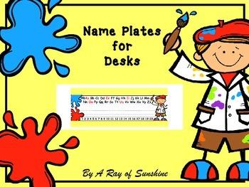 Art ~ Name Plates for Desks