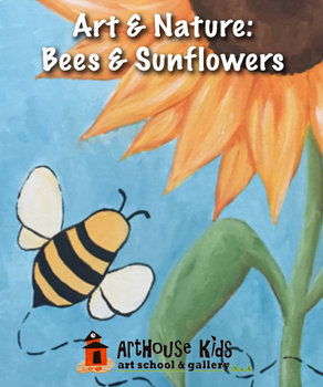 Art & Nature: Bees & Sunflowers Art Lesson | Acrylic Paint