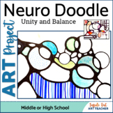 Art Neuro Doodle Drawing for Middle or High School