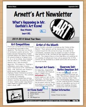 Art Newsletter Template